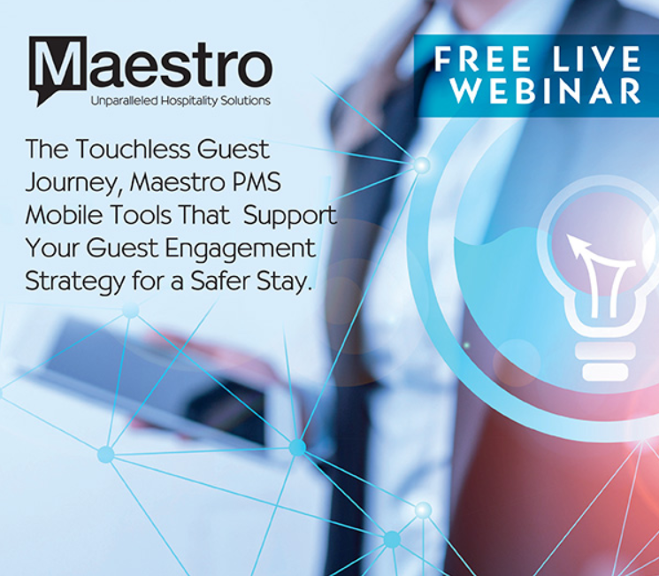 Maestro Webinar 06022020 - Maestro PMS Announces Webinars to Guide Users Toward a Touchless Guest Journey - Innovative Property Management Software Solutions Powering Hotels, Resorts & Multi‑Property Groups.