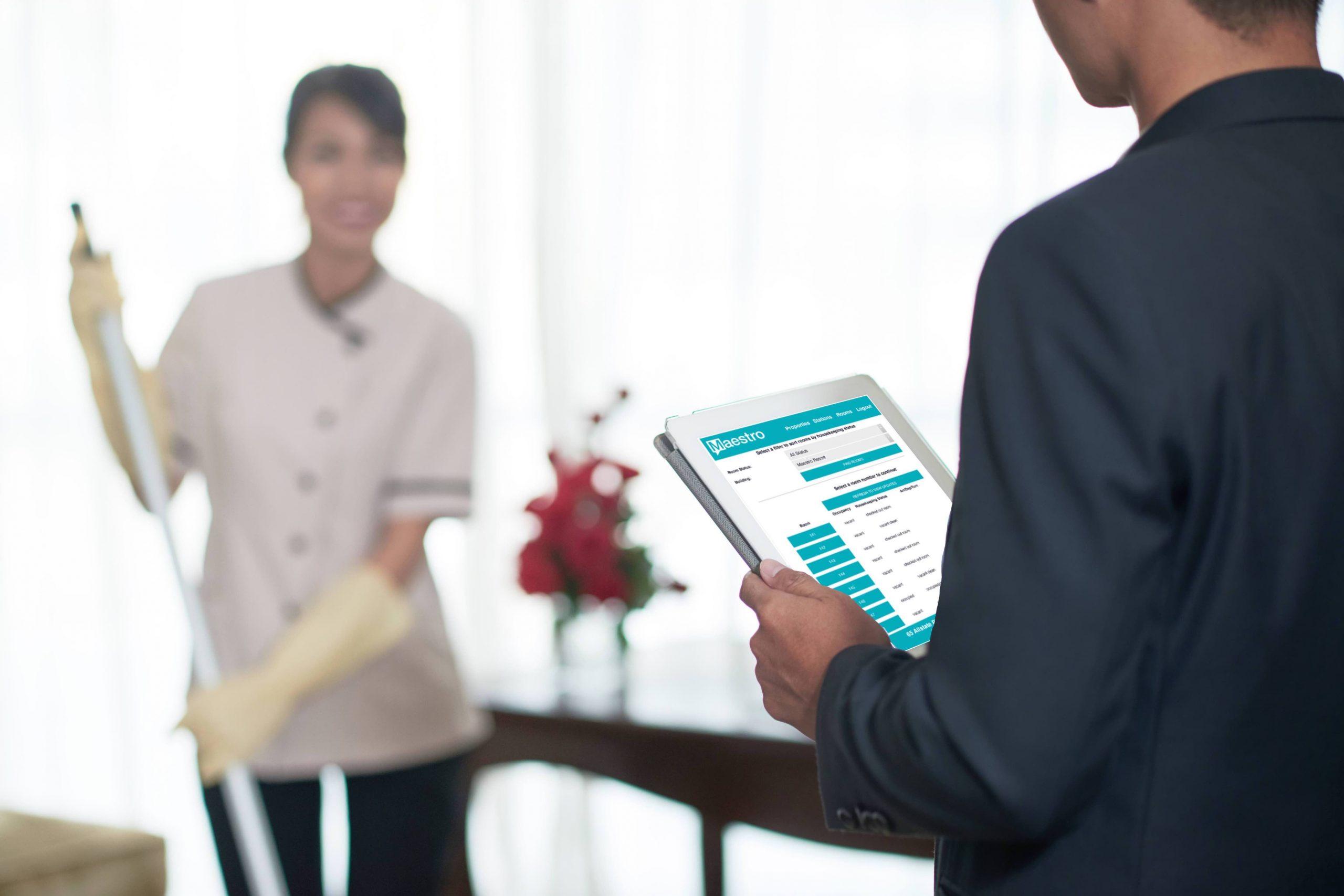 ipadhousekeepingimage scaled - Home - Innovative Property Management Software Solutions Powering Hotels, Resorts & Multi‑Property Groups.